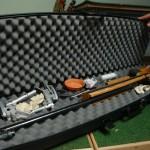 Kleinkaliber-Gewehr im Gewehrkoffer
